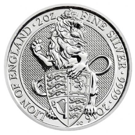 2016 The 'Queen's Beasts' Silver 2oz Lion £5 Coin